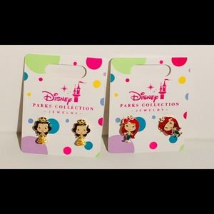 Disney Parks Princess Earrings Jewelry Girls Set